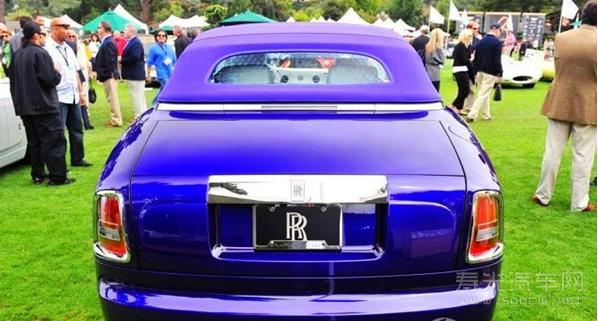 劳斯莱斯紫色幻影软顶敞篷跑车酷图